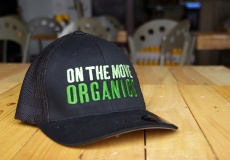 On The Move Organics Hat, Green Logo