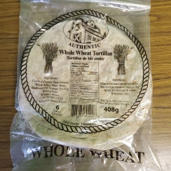 J & D Peters, Large Whole Wheat Tortillas - 6 Pack