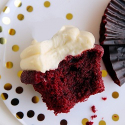 The Root Cellar, Beet Cake Muffins - 4 Pack with Goat Cheese Icing and Chocolate