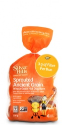 Silver Hills, Sprouted Hot Dog Buns - 6 count