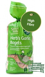 Silver Hill Sprouted Bakery, Herb's Garlic Bagels - 400g