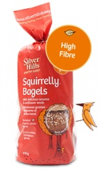 Silver Hills Sprouted Bakery, Squirelly Sprouted Bagels - 400g