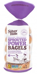 Silver Hills Sprouted Bakery, Cinnamon Raisin Sprouted Bagels - 5 Pack