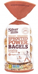 Silver Hills Sprouted Bakery, Everything Sprouted Bagels - 5 Pack