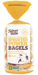 Silver Hills Sprouted Bakery, Sesame Sunflower Sprouted Bagels - 5 Pack