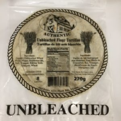J & D Peters, Small Unbleached Tortillas