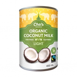 Cha's (Arayuma) Light Organic Coconut Milk - 400ml