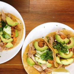 Pulled Chicken and Sweet Potato Tacos - Serves 3-4
