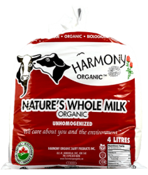 Harmony Organic, Unhomogenized Whole Milk (Separation is Natural) - 4L Bagged