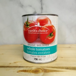 Earth's Choice, Organic Canned Whole Tomatoes - 796ml