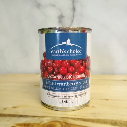 Earth's Choice, Organic Jellied Cranberry Sauce - 348ml