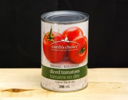 Earth's Choice, Organic Canned Diced Tomato - 398ml