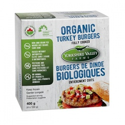 Yorkshire Valley Farms, Organic Fully Cooked Turkey Burgers