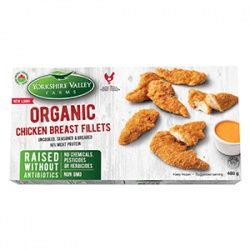 Yorkshire Valley Farms, Organic Breaded Chicken Fillets