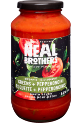 Neal Brothers, Organic Greens and Pepperoncini Pasta Sauce - 680ml