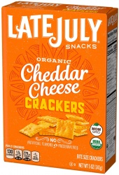 Late July, Organic Bite Size Cheddar Cheese Crackers