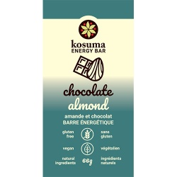 Kosuma, Chocolate Almond Bar (Vegan, Wheat Free)