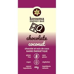 Kosuma, Chocolate Coconut Bar (Vegan, Wheat Free)