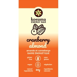 Kosuma, Cranberry Almond Bar (Vegan, Wheat Free)