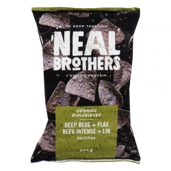 Neal Brothers, Deep Blue with Flax Tortilla Chips
