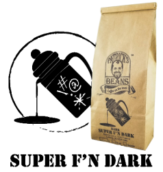 Patrick's Beans, Super F'N Dark Roast Coffee - 1lb